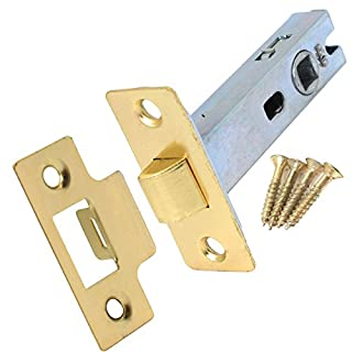 75mm Polished Brass Tubular Mortice Latch For Internal Doors