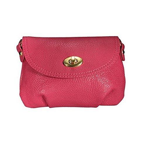 TOOGOO(R) Donne Handbag Satchel croce corpo borsa Totes borse a tracolla Messenger Rosa Rossa Rosa rossa