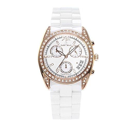Stella Maris - STM15F4 - wrist watch for women - quartz movement analog display - white dial - white ceramic bracelet