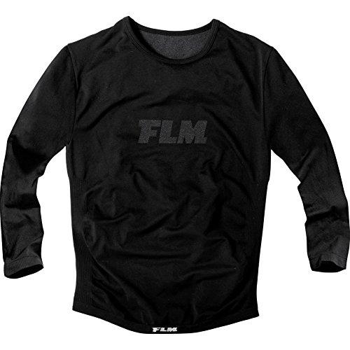 FLM Langarmshirt Funktionsshirt Sports Funktionsshirt, Langarm 1.0, extrem, leicht, antibakteriell, schneller Abtransport von Feuchtigkeit, kühlt im Sommer, wärmt im Winter, Schwarz, XL/XXL / 2XL