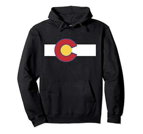 Colorado USA Flag - Rocky Mountain High Pullover Hoodie -