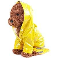 Mini chubasquero para mascotas, material de poliuretano reflectante, con capucha, resistente al viento, tallas S, M, L, 5 colores a elegir