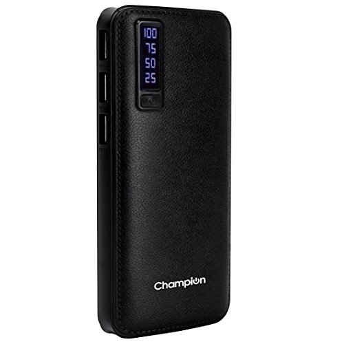 Champion Digital Power Bank 10000mAh Capacity (BIS Certified) Model Pl-10001 with Leather Finish