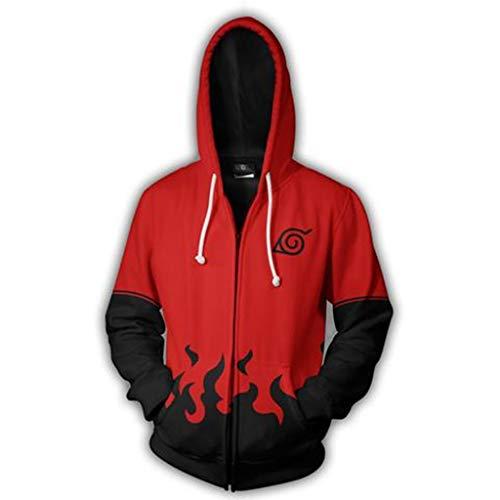 Henxizucun Herren Langarm 3D Print Hoody Sweatshirts mit Känguru Big Pockets Hoodie Sportbekleidung Halloween Cosplay Sweatshirt,Red,XXXXXL (Halloween-kostüme Schnelle Teens)