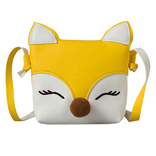 Frauen Handtasche Kinder Baby Mädchen Jungen Fox Umhängetasche Handtaschen Mini Crossbody Tasche Paket Gelb