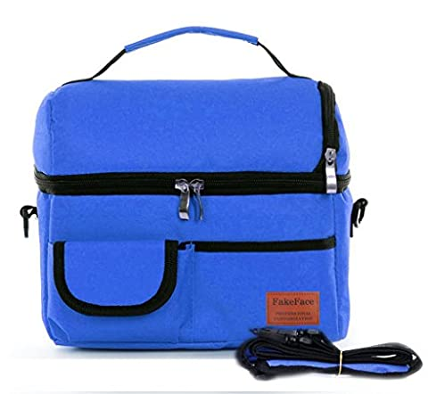 BXT Thicken Insulated Cooler Bag Expandable Ice Pack School Work Lunch Box Kids Infant Baby Milk Bottle Fresh Bag Lunch Pouch Picnic Food Carry Bag Tote with Shoulder Strap
