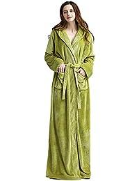 Para mujer Suave lujo 300 GSM Fleece Con capucha Traje de cuerpo entero Albornoz de felpa Para hombre Bata de…