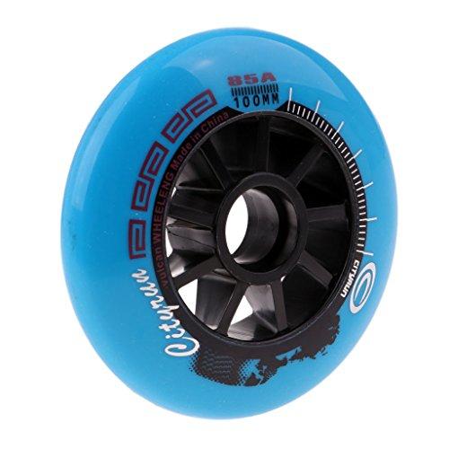 Homyl 90 mm/100 mm/110 mm Inline Skate verschleißfest Ersatzrollen - Blau, 100 mm