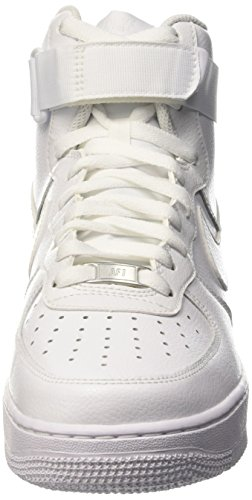 Nike Herren Air Force 1 High '07 Gymnastik, Blau Elfenbein - Blanc Cassé - Blanco (White / White)