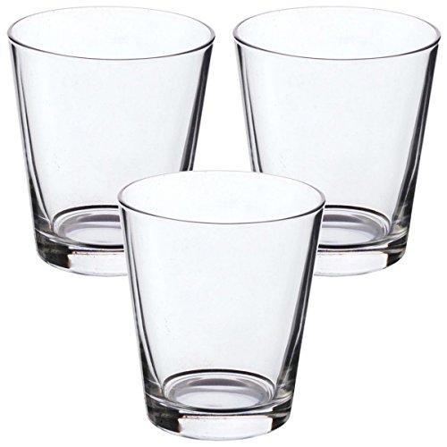 Promobo Set 3Stück Gläser Becher Whisky Longdrink Cocktail 35cl (Cocktail-gläser Drei)