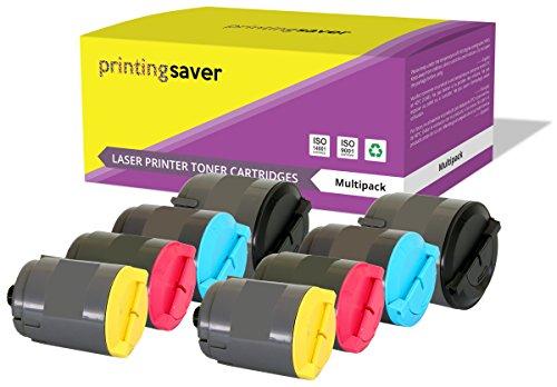 Printing saver clp-300a nero (2) ciano (2) magenta (2) giallo (2) toner compatibili per samsung clp-300, clp-300n, clx-2160, clx-2160n, clx-2160x, clx-2161k, clx-3160, clx-3160n, clx-3160fn