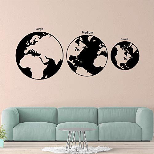kyprx Cartoon Erde Wohnkultur Vinyl Wandaufkleber Wohnzimmer Kinderzimmer Hintergrund Wandkunst Aufkleber schwarz L 43 cm X 102 cm