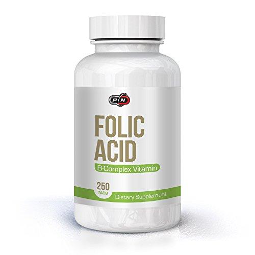 Pure Nutrition Folsäure 800 mcg 250 Portion Tabletten Kinderwunsch mit Vitamin B12 Complex|Folic Acid Vitamin B9 Folate Pregnancy Schwangerschaft Babyplanung|Ohne Jod Hochdosiert Vegan Bio Kapseln