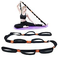 Idea Regalo - 5BILLION Cinghia di Yoga - 4cm x 204cm - Cinghia di Yoga con Cicli Multipli Grip - Ideale per Hot Yoga, Fisioterapia, Una Maggiore Flessibilità e Fitness Allenamento (Arancione)