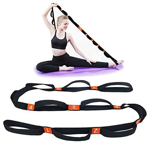 5BILLION Yogagurt - 4cm Breite - Stretchgurt mit Mehreren Grip Loops Tür-Flexibilität - Ideal für Heißes Yoga, Körperliche Therapie, Größere Flexibilität & Eignung-Training