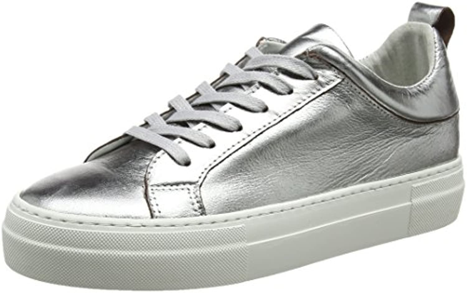 Pieces Pieces Pieces Pspaulina Leather Sneaker Silver, Sneakers Basses FemmeB07112LJFWParent 86b775