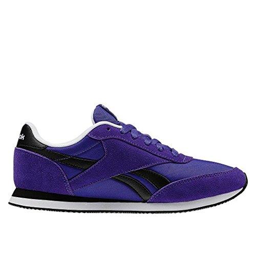 Reebok - Royal CL Jog Team - V70713 - Couleur: Noir-Violet - Pointure: 40.0