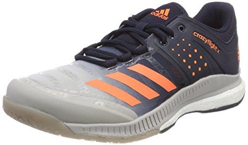 adidas Herren Crazyflight X Volleyballschuhe, Blau (Legend Ink/Hi-Res Orange/Grey Two), 48 EU - Adidas Volleyball Schuhe
