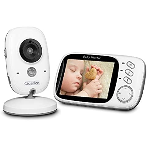 Quarice®Vigilabebés Monitor Inalámbrico con pantalla LCD de 3,2