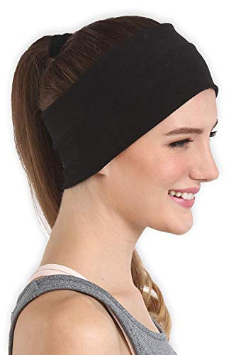 BISMAADH Wide, Moisture Wicking and Non-Slip Exercise Workout Headband for Men and Women