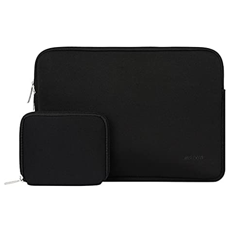 MOSISO Laptop Sleeve, Water-resistant Lycra Case Bag Cover Only for The New Macbook 12 Inch with Retina Display (2015 / 2016 Release) with Small Case for MacBook Charger or Magic Mouse, Black