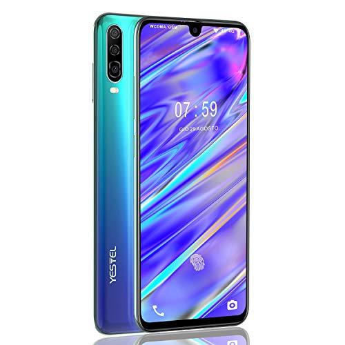 """YESTEL P30 Smartphone da 6.3"""" Android 8.1 Dual SIM 4G VoLTE, Octa-Core, 4GB+64GB+256GB Espandibili Cellulare,13MP+8MP, Batteria 4180mAh Cellulare (Aurora Blue)"""