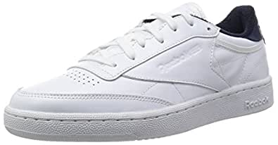 Reebok  Club C 85 El, Sneakers homme - différents coloris - Blanc / Bleu (White Collegiate Navy), 39 EU