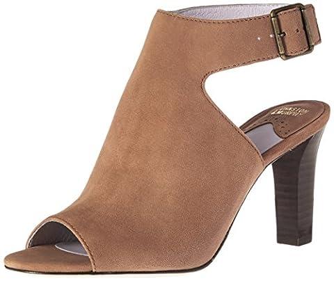 Johnston & Murphy Women's Brianna Heeled Sandal, Camel, 10 M US