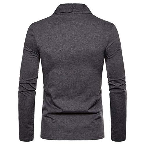 the latest ab1c6 d257d Uomo Cardigan Moda Felpe Pullover Uomo T Shirt Uomo Maglietta Uomo Top  Manica Lunga Uomo Maglietta Moda Magliette Uomo Maglia Tinta Unita Top  Maniche ...