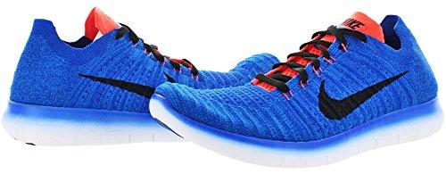 Nike Herren Free Rn Flyknit Laufschuhe Azul (Racer Blue / Black-Total Crimson)