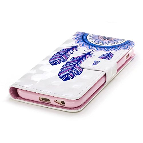Coque iPhone 6/6s holster portefeuille emplacement pour carte de crédit caractéristiques faux cuir magnetic off fonction du stent Dessin 3D modèle conception étui de protection DECHYI case Cover Flama GY05