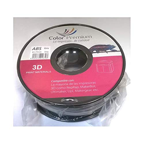 Bobina para impresora 3D 1.75 mm 1KG (Gris, ABS)