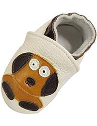 Atmungsaktiv Krabbelschuhe Lederpuschen Lauflernschuhe Babyschuhe 0-24 Monats