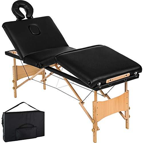 TecTake Table de Massage 4 Zones Pliante cosmetique lit de Massage Portable + Housse de Transport -...