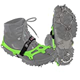 ALPIDEX Crampones antidesilisantes 21 Dientes Acero Inoxidable Crampones Escalada Hielo, Tamaño:XL, Color:Green