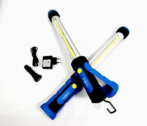LED Akku Werkstattlampe COB 10W Arbeitsleuchte KFZ Arbeitslampe magnet Motorhaube KFZ Stablampe