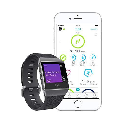 Zoom IMG-3 fitbit ionic fitness smartwatch nero