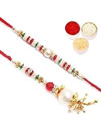 Ghasitaram Gifts Rakhis Online - My Precious Pearl Bhiya Bhabhi rakhi
