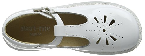 Start Rite Tea Party, Sandales fille Blanc (White Patent)