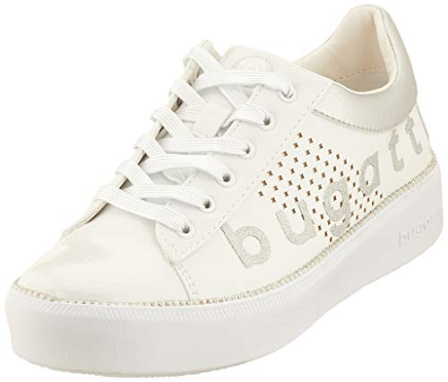 bugatti Damen 432407195959 Sneaker, Weiß (White/Silver 2013), 41 EU