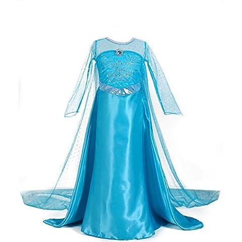 URAQT Traje del Vestido / Traje de Princesa de la nieve Vestido infantil Disfraz de Princesa de Niñas para Fiesta Carnaval Cumpleaños