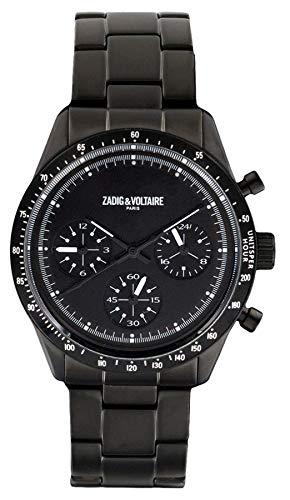 Zadig & Voltaire Reloj Analógico para Unisex Adultos de Cuarzo con Correa en Acero Inoxidable ZVM301...