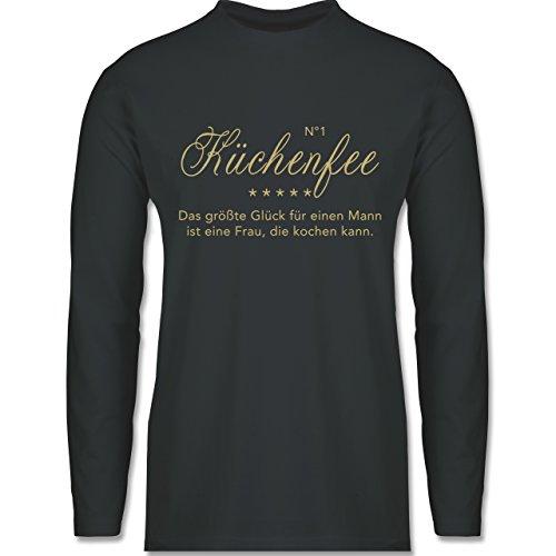 Küche - N°1 Küchenfee - Longsleeve / langärmeliges T-Shirt für Herren Anthrazit