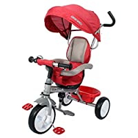 Ricco Kids Easy Steer Pedal Tricycle Buggy Stroller with Oxford Cloth XG18859