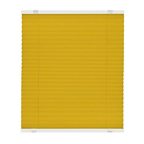 VICTORIA M Plissee Klemmfix ohne Bohren - EasyFix Größe: 100 x 150 cm, Farbe: gelb