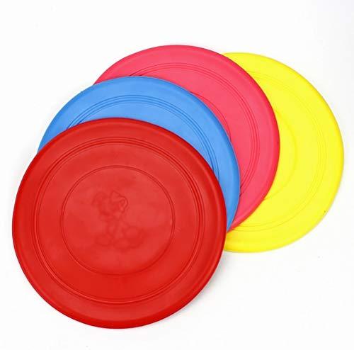 Dafang 4 Hunde Frisbees, 18cm - Welpen Ausbildung Spielzeug Cute Pet Hund Silikon Flying Disc Tooth Resistant Outdoor Hundetraining Fetch Spielzeug Ideal für Hundetraining, (Farbe Random),setof4 -