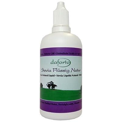 Daforto Stevia Natural Liquid, 100ml from Daforto GbR