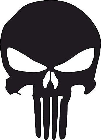 Autocollant décal sticker pour voiture et moto Punisher Skull tête de mort