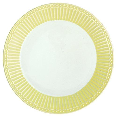 Assiette Greengate - Alice - En porcelaine - Jaune pâle