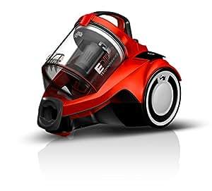 Dirt Devil DD2225-1 Rebel 25 HFC Aspirateur sans Sac Cyclonique avec Brosse Parquet Rouge/Noir